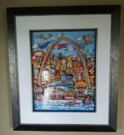 Meet Me in St. Louis 3-D original 1996 31x24 Original Painting by Charles Fazzino - 1