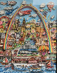Meet Me in St. Louis 3-D original 1996 Original Painting - Charles Fazzino