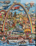Meet Me in St. Louis 3-D original 1996 31x24 Original Painting by Charles Fazzino - 0