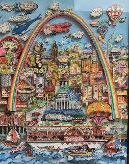 Meet Me in St. Louis 3-D original 1996 Original Painting by Charles Fazzino