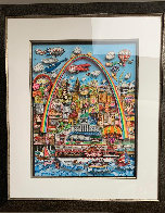 Meet Me in St. Louis 3-D original 1996 31x24 Original Painting by Charles Fazzino - 2