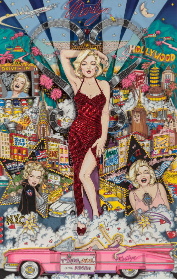 Forever Marilyn 1998 3-D by Charles Fazzino