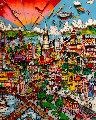I Left My Heart 1992 3-D San Francisco Limited Edition Print - Charles Fazzino
