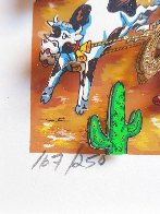 Rodeo Round Up 3-D Limited Edition Print by Charles Fazzino - 2