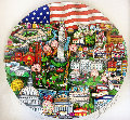Our Salute to Washington 3-D Limited Edition Print - Charles Fazzino