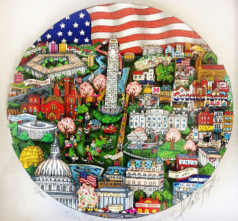 Our Salute to Washington 3-D Limited Edition Print by Charles Fazzino