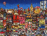 Mangia Mulberry Street 3-D Limited Edition Print - Charles Fazzino