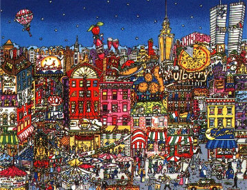 Mangia Mulberry Street 3-D Limited Edition Print by Charles Fazzino
