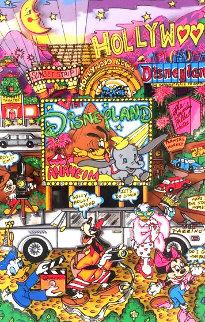 Anaheim 1998 3-D Disney Limited Edition Print - Charles Fazzino