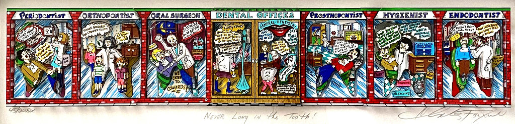 Never Long in the Tooth 2002 Embellished 3-D Limited Edition Print by Charles Fazzino