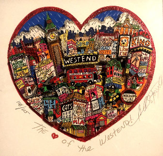 Heart of the West End/London 3-D Limited Edition Print by Charles Fazzino