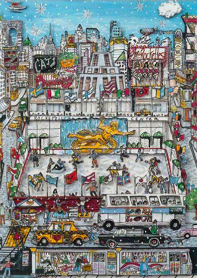 Rockefeller Center 3-D 1991 Limited Edition Print by Charles Fazzino