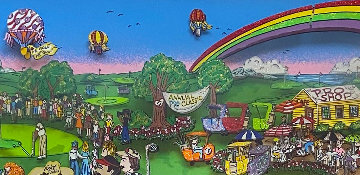 A Hole in One Behind Bush 13 2000 Limited Edition Print by Charles Fazzino