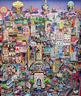 Manhattan Will Make You Feel Brand New, Broadway Will Inspire You 3-D Limited Edition Print - Charles Fazzino