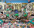 Brunch At The Met, New York 3-D 1992 Limited Edition Print - Charles Fazzino