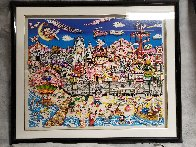 Betty's Booping, Popeye's Swooning on Coney Island Beach 3-D 1995   Limited Edition Print by Charles Fazzino - 1