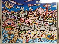 Betty's Booping, Popeye's Swooning on Coney Island Beach 3-D 1995   Limited Edition Print by Charles Fazzino - 3