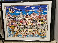 Betty's Booping, Popeye's Swooning on Coney Island Beach 3-D 1995   Limited Edition Print by Charles Fazzino - 2