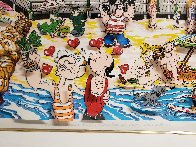 Betty's Booping, Popeye's Swooning on Coney Island Beach 3-D 1995   Limited Edition Print by Charles Fazzino - 4