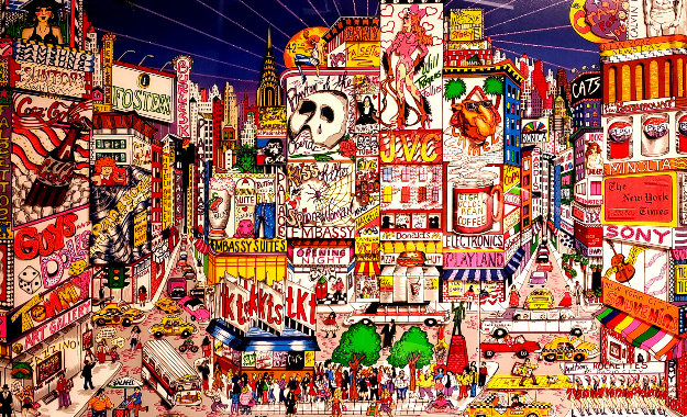 Steppin Out on Broadway 3-D Limited Edition Print by Charles Fazzino