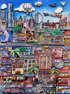 Miami Heat 3-D Limited Edition Print by Charles Fazzino