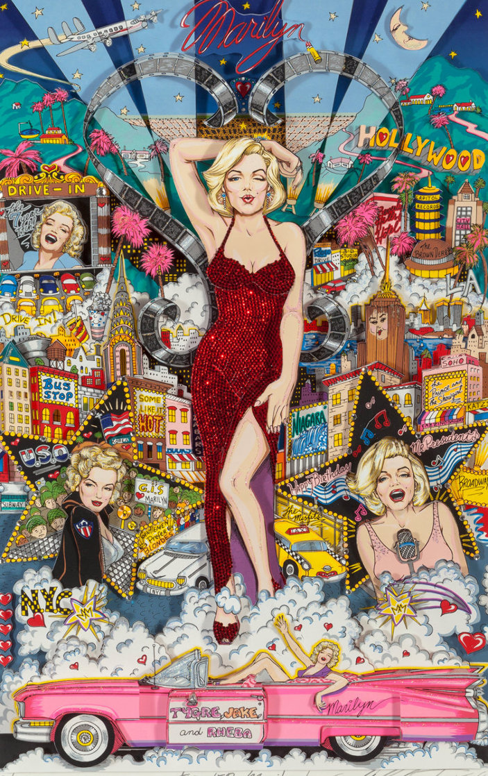Forever Marilyn 3-D 1998  Limited Edition Print by Charles Fazzino