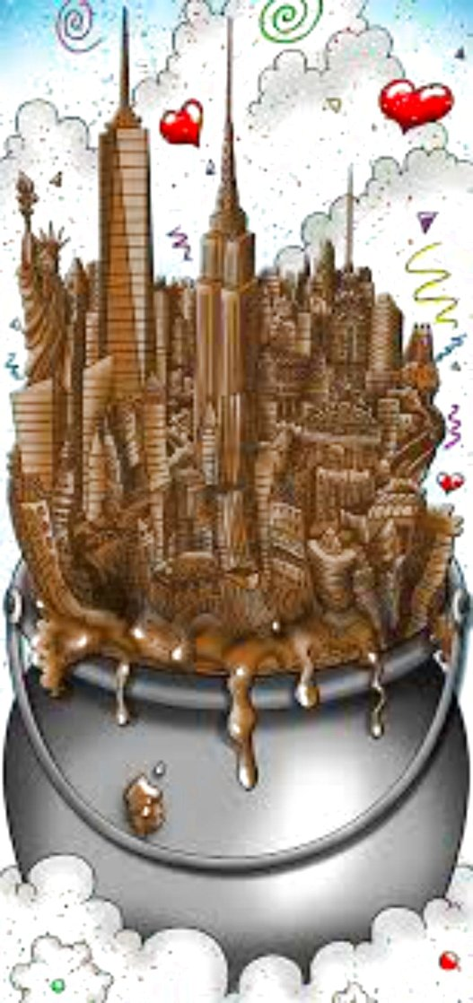 A Melting Pot of Chocolate   NYC 3-D 2016 Limited Edition Print by Charles Fazzino