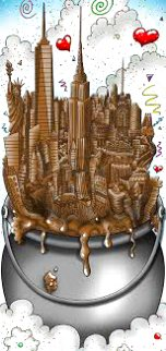 A Melting Pot of Chocolate   NYC 3-D 2016 Limited Edition Print - Charles Fazzino