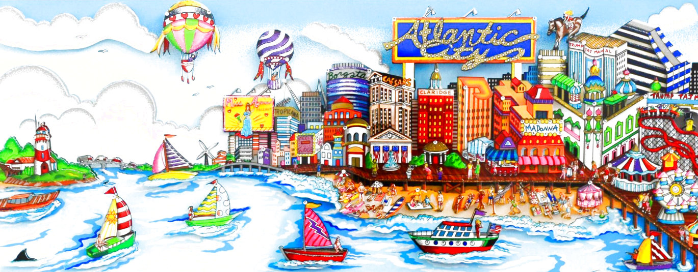 An Atlantic City Summer 3-D  2001 Limited Edition Print by Charles Fazzino
