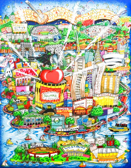 There's Music...NY, NJ, and Long Island Too! 3-D 2006 Limited Edition Print by Charles Fazzino
