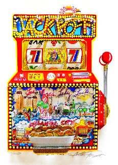 Slots of Fun 3-D Limited Edition Print - Charles Fazzino