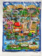 There's Music New Jersey, New York and Long Island Too 3-D Limited Edition Print by Charles Fazzino - 1