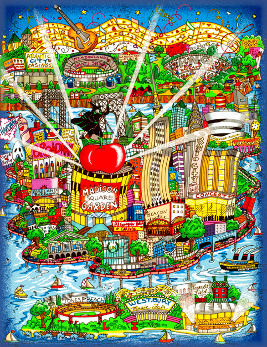 There's Music New Jersey, New York and Long Island Too 3-D Limited Edition Print by Charles Fazzino