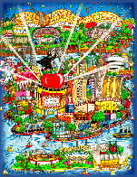 There's Music New Jersey, New York and Long Island Too 3-D Limited Edition Print by Charles Fazzino - 0