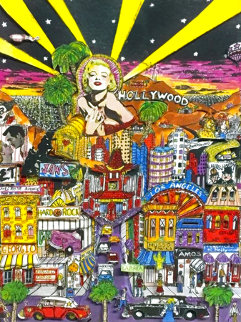 Hollywood 3-D Limited Edition Print - Charles Fazzino
