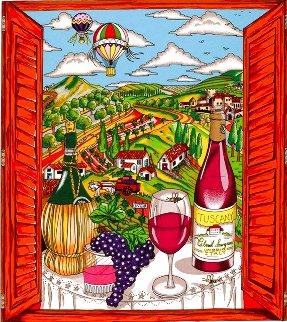 Italian Suite: Il Buon Vino Della Toscana 3-D 2006 Limited Edition Print - Charles Fazzino