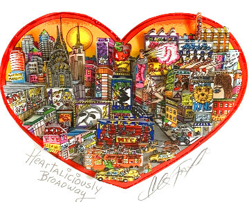 Heartaliciously Broadway 3-D Limited Edition Print - Charles Fazzino