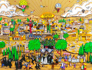 Wedding in Jerusalem 3-D Limited Edition Print - Charles Fazzino