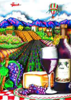 A View of the Vineyard 3-D 2011 Limited Edition Print - Charles Fazzino