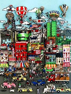 Memories of Manhattan 2001 3-D Limited Edition Print - Charles Fazzino