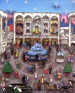 Winter at the Met 3-D 1992 (New York) Limited Edition Print - Charles Fazzino