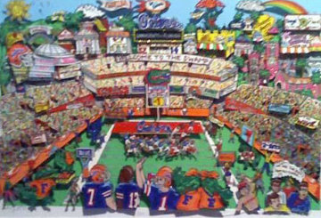 Go Go Gators, Florida 3-D 1995  Limited Edition Print by Charles Fazzino