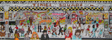 Only in the Subway 3-D 1992 New York 44x23 Limited Edition Print by Charles Fazzino