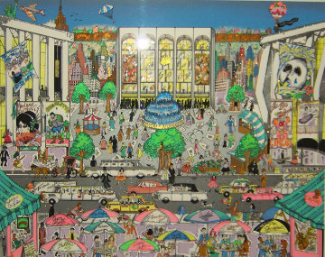 Brunch At The Met 3-D New York Limited Edition Print by Charles Fazzino