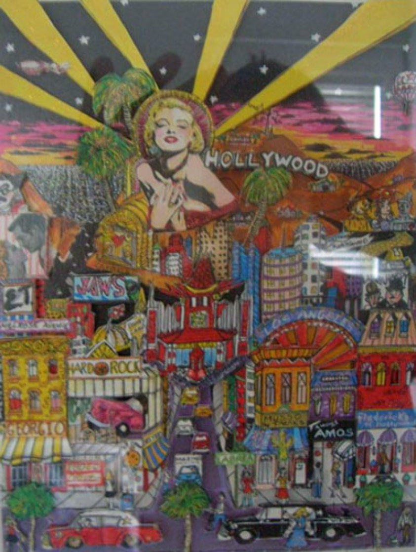 Hollywood 3-D California Limited Edition Print by Charles Fazzino