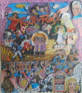 Rock N' Roll 3-D Limited Edition Print - Charles Fazzino