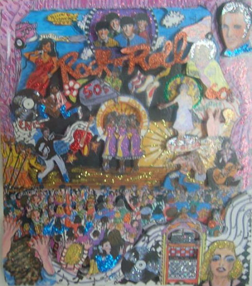 Rock N' Roll 3-D Limited Edition Print by Charles Fazzino