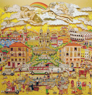 Amore Di Roma 3-D 1987 deluxe version  Limited Edition Print by Charles Fazzino