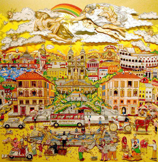 Amore Di Roma 1987 3-D  Limited Edition Print by Charles Fazzino
