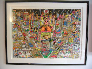 Great White Way Broadway 3-D 1991 Limited Edition Print - Charles Fazzino